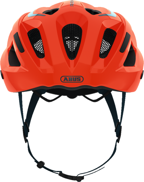 abus aduro helmet in colour shrimp orange front view