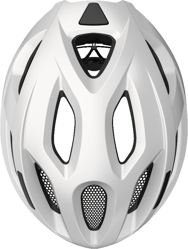 abus aduro 2.1 helmet in polar white, top view