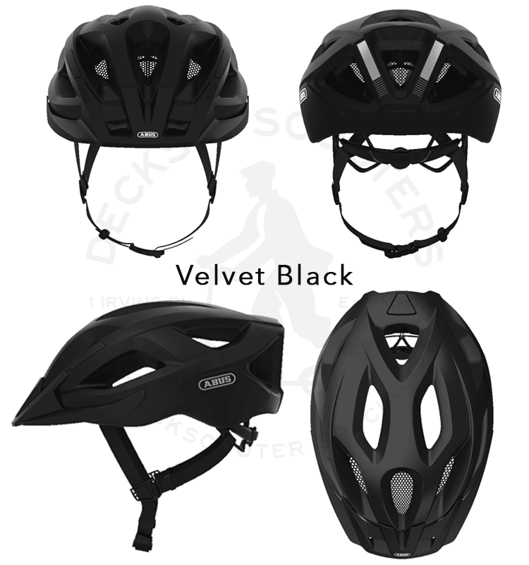 Abus Aduro 2.1 bicycle helmet 4 angles in Velvet Black