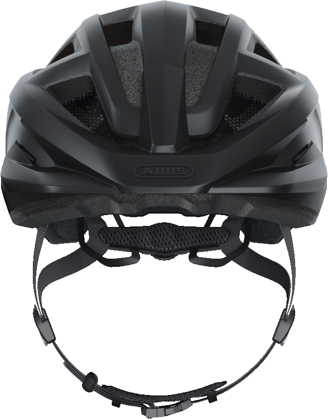 abus mountz mountain bike helmet velvet black front view