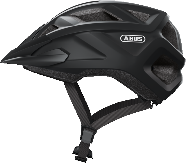 abus mountz mountain bike helmet velvet black side view