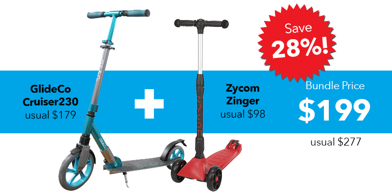 kick scooter bundle glideco cruiser230 and zycom zinger
