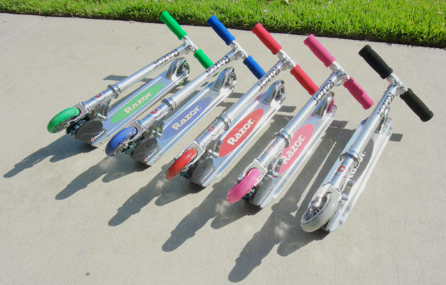 different colours of razor A kick scooter