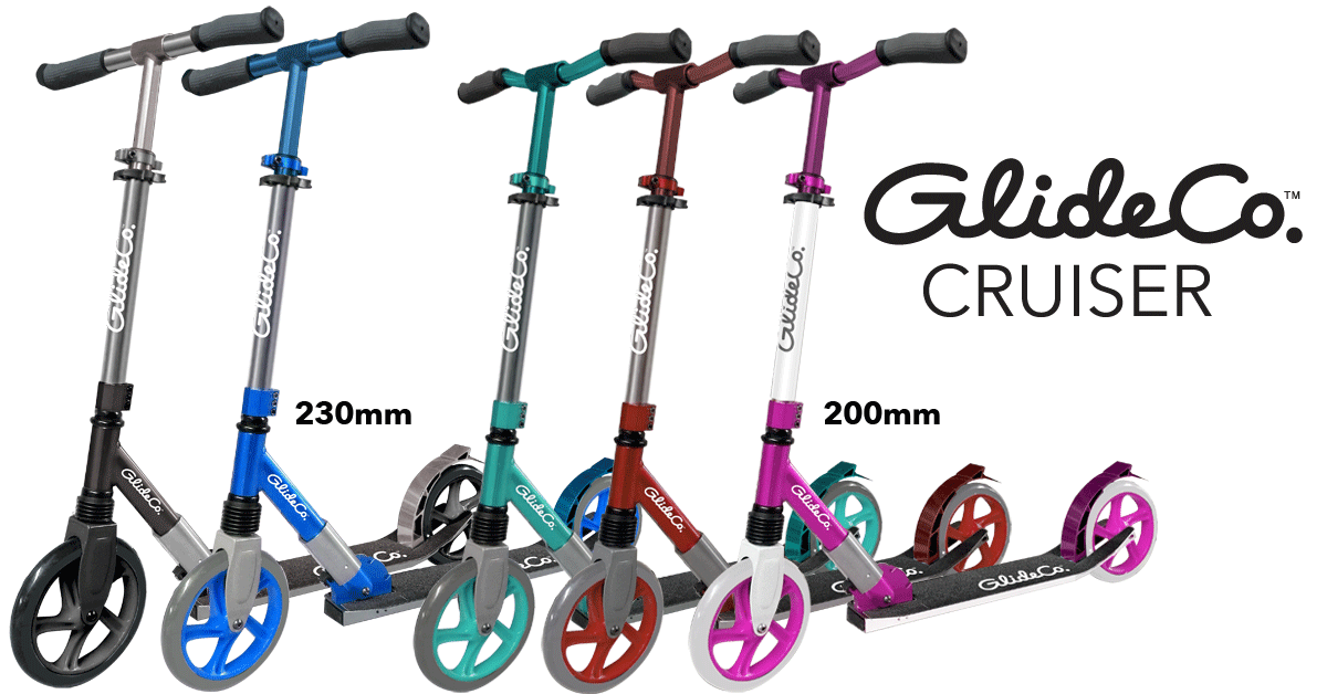 glideco cruiser kick scooters