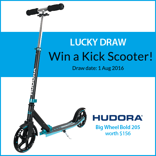 Win a Kick Scooter Lucky Draw