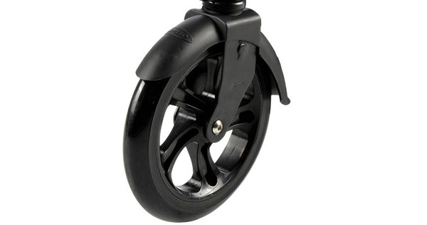 micro white black kick scooter wheel