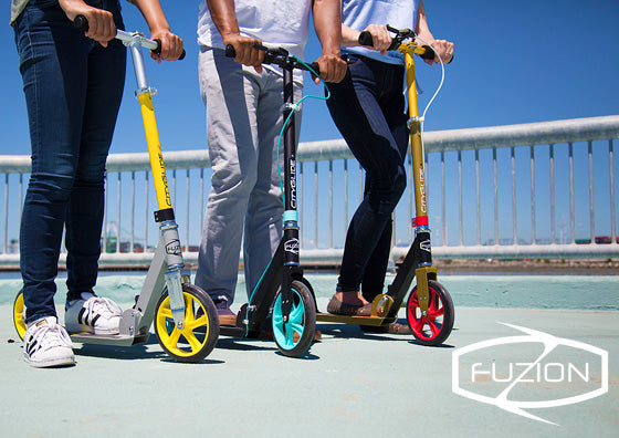 Fuzion City-Glide kick scooter with handbrake in Singapore