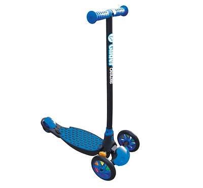 yvolution y glider deluxe kick scooter blue