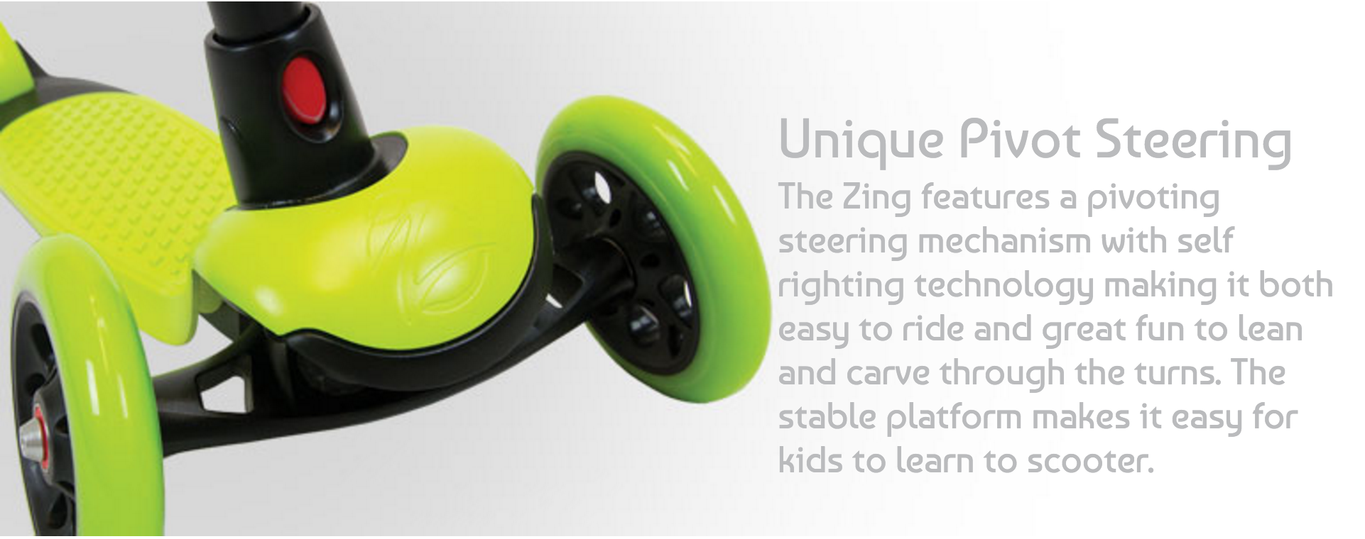 Zycom Zing 3 Wheel Kick Scooter for children Feature 1