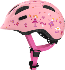 Abus Smiley Bicycle helmet for kids, Rose Princess, side view