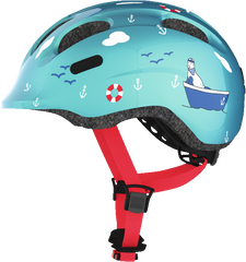 Abus Smiley Bicycle helmet for kids, Turquoise Sailor, side view