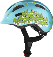 Abus Smiley Bicycle helmet for kids, Blue Croco, side view