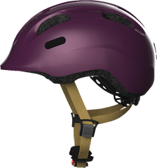 Abus Smiley Bicycle helmet for kids, Royal Purple, side view