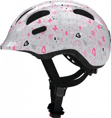 Abus Smiley Bicycle helmet for kids, White Crush, side view