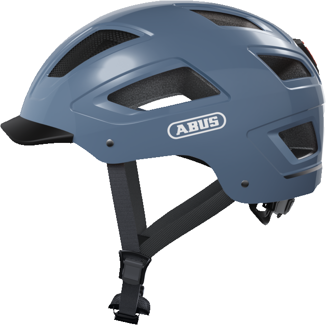 Abus hyban 2.0 bicycle urban commuting helmet side view in glacial blue