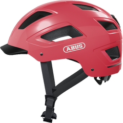 Abus Hyban 2.0 Urban Commuting bicycle helmet in Living Coral