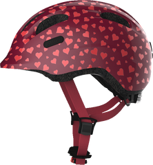 Abus Smiley Bicycle helmet for kids, Cherry Heart, side view