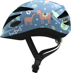 Abus Hubble 1.1 Kids Helmet blue horse
