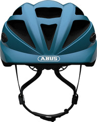 Abus Hubble 1.1 Kids Helmet shiny blue front view