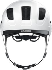 Abus Hyban 2.0 Urban Commuting bicycle helmet in Polar White, front view
