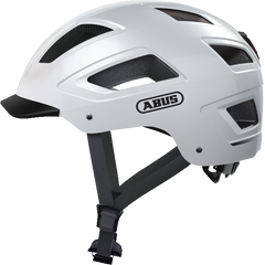 Abus Hyban 2.0 Urban Commuting bicycle helmet in Polar White, side view