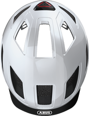 Abus Hyban 2.0 Urban Commuting bicycle helmet in Polar White, top view
