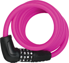 ABUS Numero 5510C Spiral Cable Lock with 4-digit Combination for Bicycles, in colour Pink