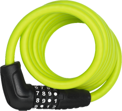 ABUS Numero 5510C Spiral Cable Lock with 4-digit Combination for Bicycles, in colour Lime