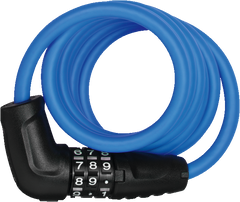 Abus 4508C spiral coil lock with combination code in blue