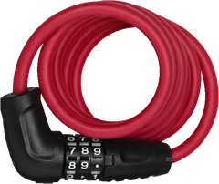 Abus 4508C spiral coil lock with combination code in red