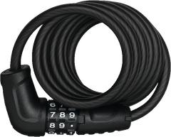 Abus 4508C spiral coil lock with combination code in black