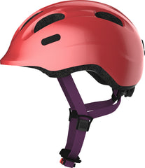 Abus Smiley Bicycle helmet for kids, Sparking Peach, side view