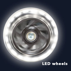 LED kick scooter light up wheels
