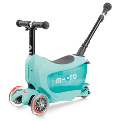 Micro Mini2go 3 wheel kick scooter for kids in mint