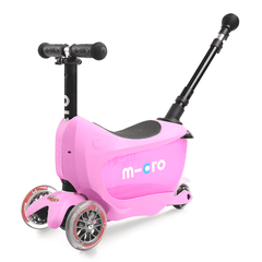 Micro Mini2go 3 wheel kick scooter for kids in pink