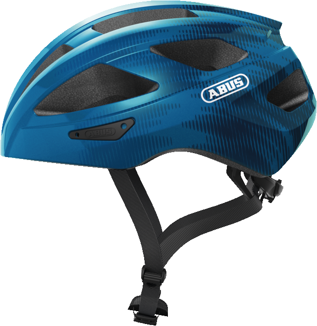 Abus Macator Bicycle helmet steel blue, view from the side