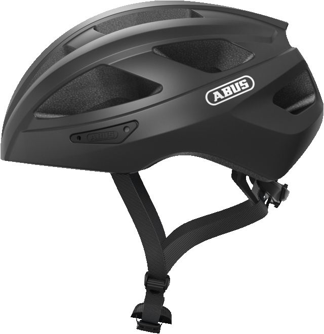 Abus Macator Bicycle helmet in titan grey, view from the side