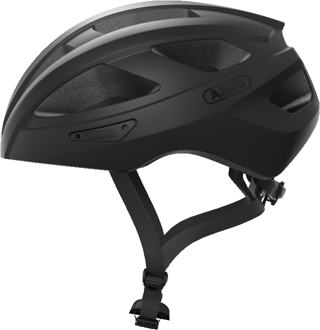 Abus Macator Bicycle helmet velvet black, view from the side