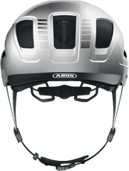 Abus Hyban 2.0 Urban Commuting bicycle helmet in Signal Silver, front view