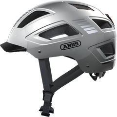 Abus Hyban 2.0 Urban Commuting bicycle helmet in Signal Silver, side view