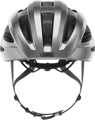 Abus Macator Helmet in Gleam Silver, front view