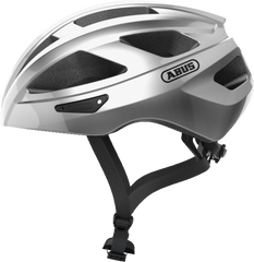 Abus Macator Helmet in Gleam Silver, side view