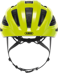 Abus Macator Helmet in Signal Yellow, front view