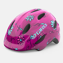 Giro Scamp Youth bicycle Helmet in Pink Daisies