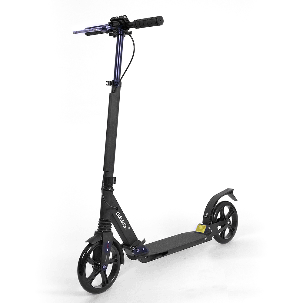 glideco explorer kick scooter with handbrake and full suspension
