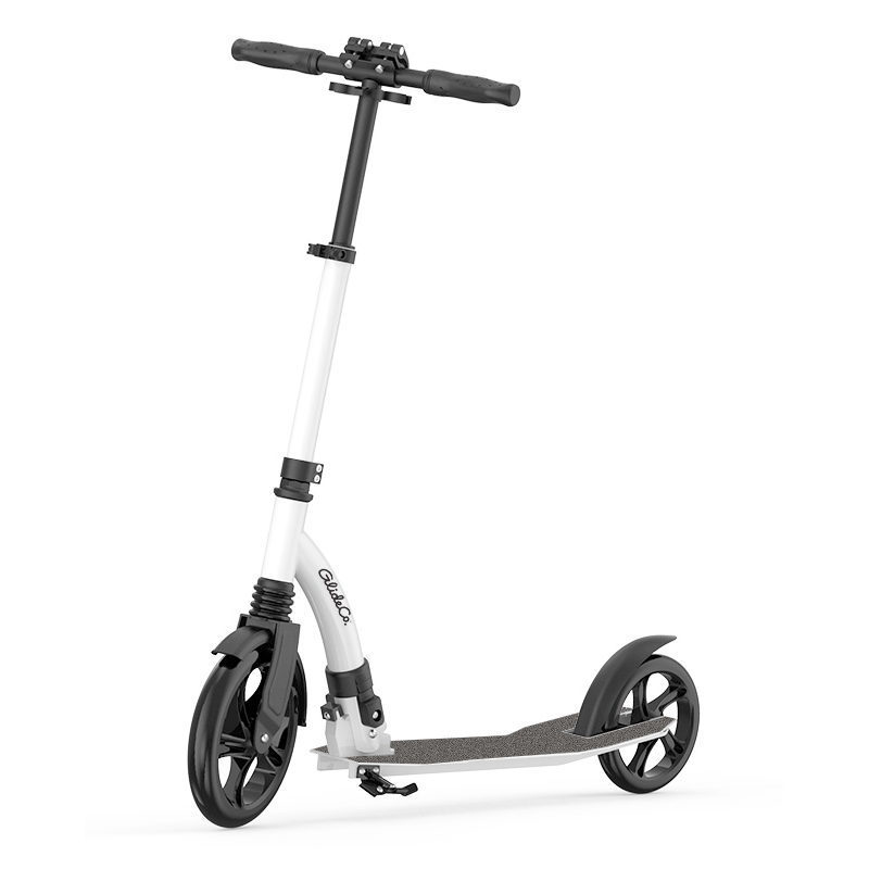 glideco grandtourer kick scooter in white