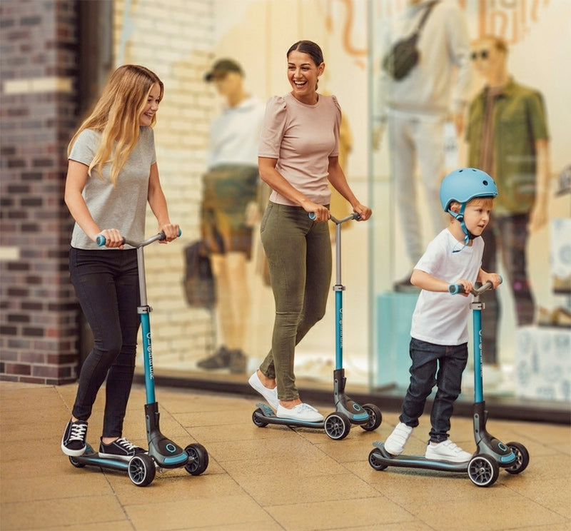 globber ultimum three wheel kick scooters is designed for both adults and kids
