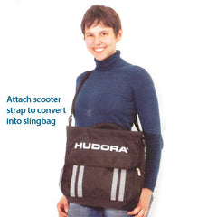 Hudora handlebar bag for kick scooters, doubles as a sling bag
