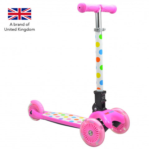 Kiddimoto U-Zoom - Pastel Dotty