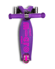maxi micro deluxe LED three wheel kick scooter, purple, top view
